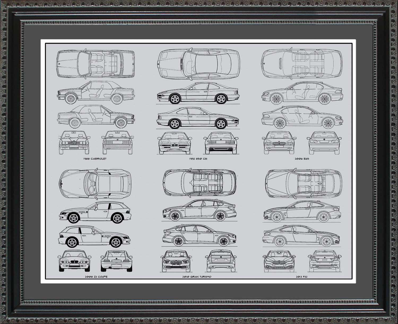 Bmw automobile blueprint art wall hanging auto car gift bmw automobile blueprint art wall hanging auto car gift malvernweather Gallery