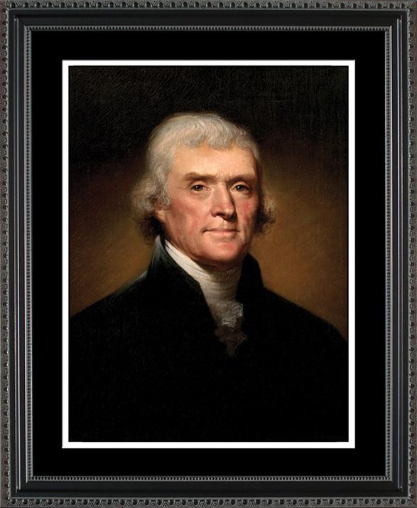 Thomas Jefferson Portrait Historic Office Art