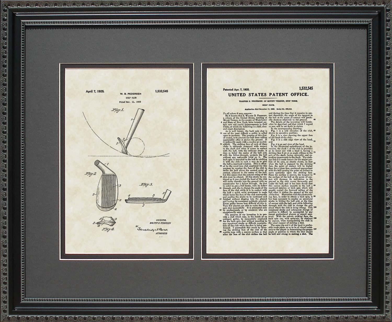Golf Club Patent Art Wall Hanging Golfer Player Coach Gift