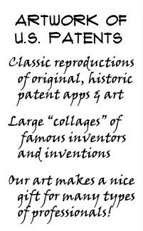 patent art frames
