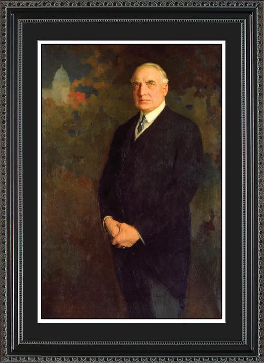 Warren G Harding Portrait Historic Office Art