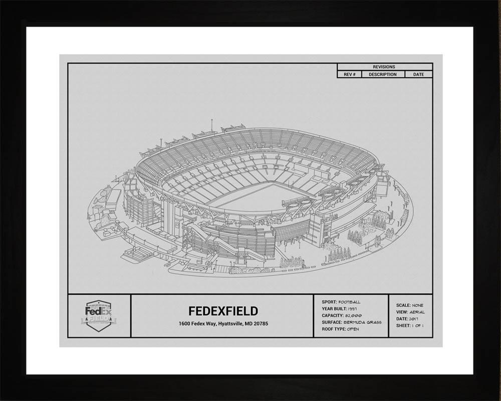 Washington redskins fedexfield stadium blueprint art gift wall art washington redskins fedexfield stadium framed print gift malvernweather Choice Image