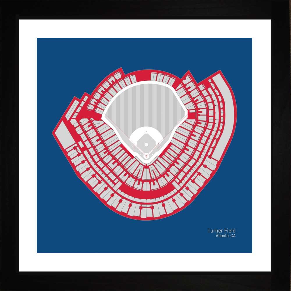 Atlanta Braves Turner Field Stadium Print Art Gift Wall Art