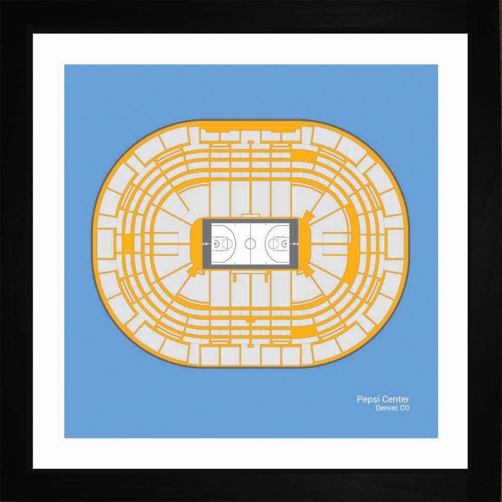 Denver Nuggets Pepsi Center Arena Print Art Gift Wall Art