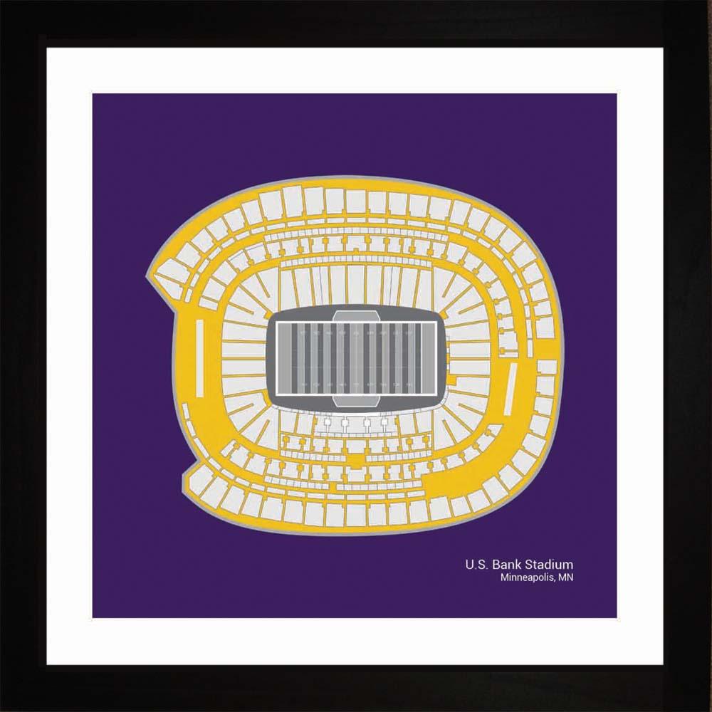 Minnesota Vikings U.S. Bank Stadium Print Art Gift Wall Art