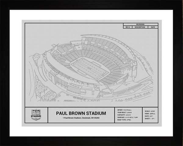 Cincinnati Bengals AT&T  Stadium Framed Print Gift