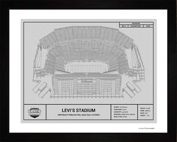 San Francisco 49ers Levi's  Stadium Framed Print Gift