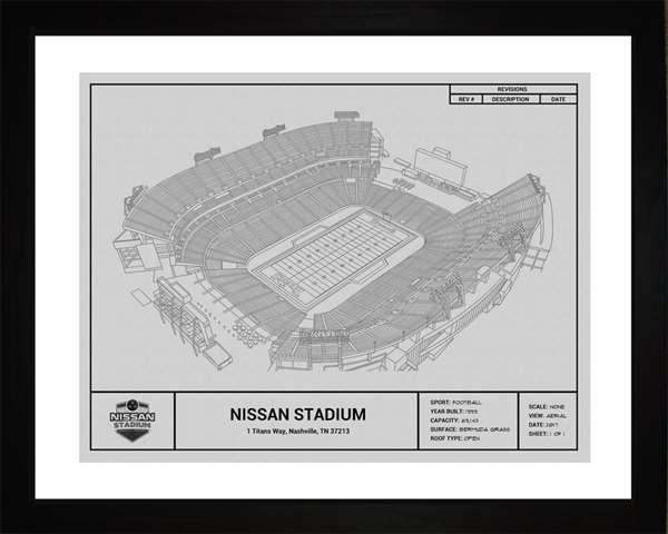 Tennessee Titans Nissan  Stadium Framed Print Gift