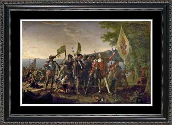 Landing of Columbus print