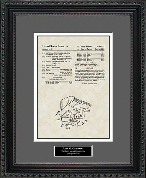 Michael Jackson Patent Art Wall Hanging Gift