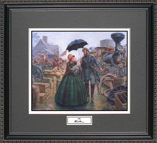 Mort Kunstler Julia framed art