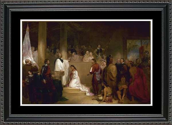 Baptism of Pocahontas print