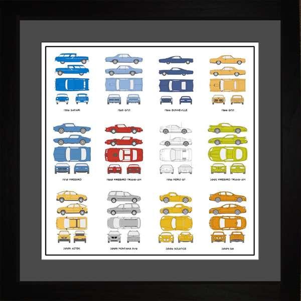 Pontiac Automobile Collection Art Wall Art Framed Print