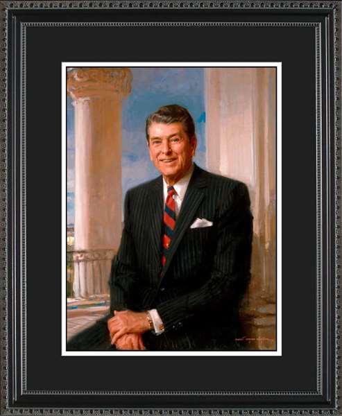 Ronald Reagan Portrait Historic Office Art
