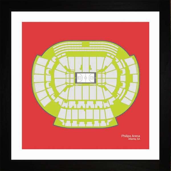 Atlanta Hawks Philips Arena Print Art Gift