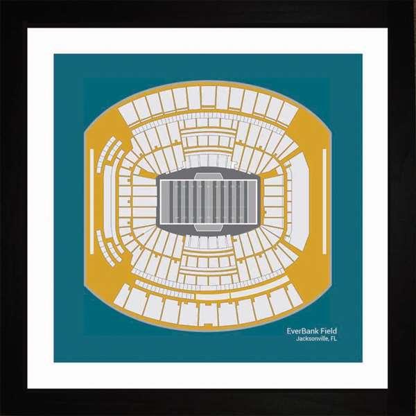 Jacksonville Jaguars EverBank Field Stadium Framed Print Gift