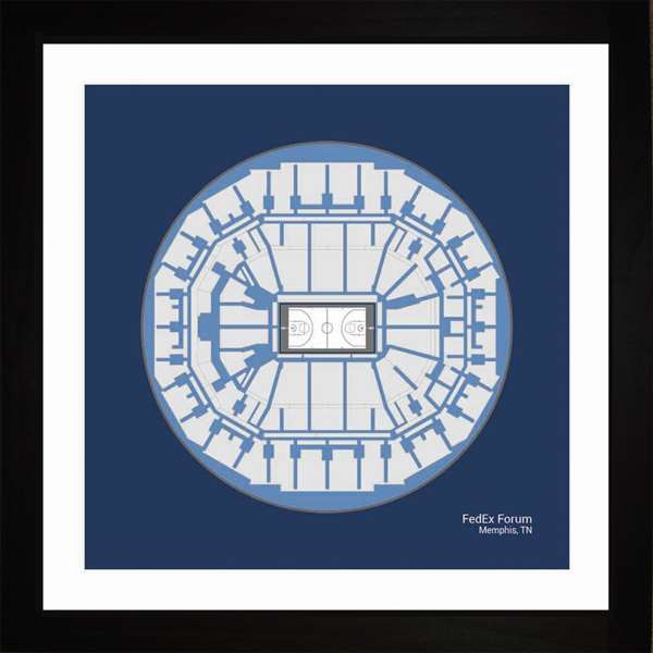 Memphis Grizzlies FedExForum Arena Print Art Gift