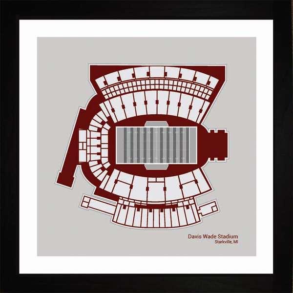 Davis Wade Stadium, Mississippi State Bulldogs, 16x16