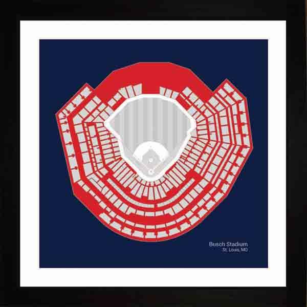 St. Louis Cardinals Busch Stadium Framed Print Gift