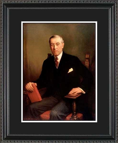 Woodrow Wilson Portrait Historic Office Art