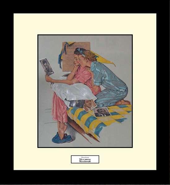 Norman Rockwell DREAMBOATS Framed Art Gift
