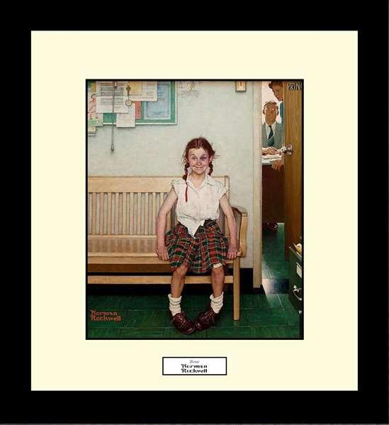 Norman Rockwell SHINER Framed Art Gift