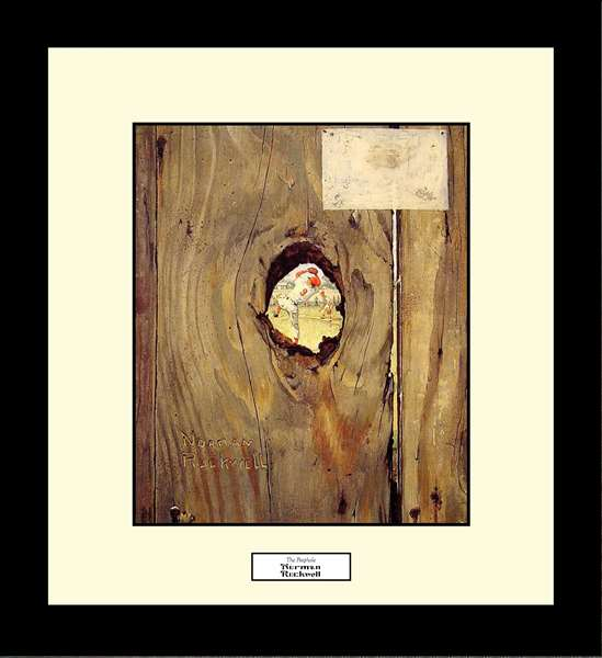 Norman Rockwell THE PEEPHOLE Framed Art Gift